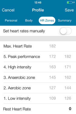 Sportovia Tutorial Athlete Profile Heart Rates